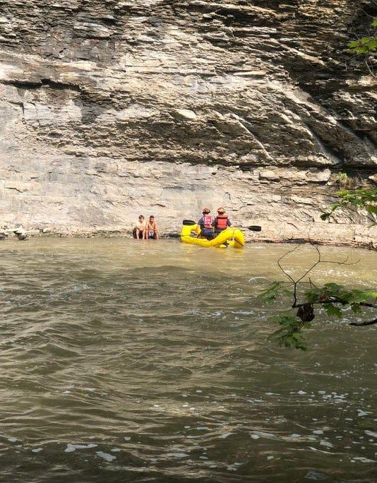 Six Mile Creek rescue