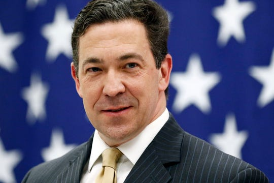 FILE- This Feb. 28, 2018 file photo shows State Sen. Chris McDaniel, R-Ellisville, in Ellisville, Miss. The two billionaire mega donors poured $1.25 million into a super PAC that was supposed to supercharge McDanie's insurgent bid to be Mississippi's next Republican senator. A year later, and much of the money from Illinois shipping supply CEO Richard Uihlein and New York financier Robert Mercer is gone, with only a fraction spent reaching voters who could boost the former state lawmaker's uphill battle against Cindy Hyde-Smith, GOP Senate leader Mitch McConnell's preferred candidate. (AP Photo/Rogelio V. Solis, File)