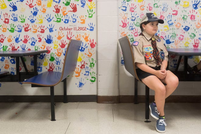 Cassidy Ross, 9, of Cub Scouts Pack 506 is one of the first girls to join the Cub Scouts.