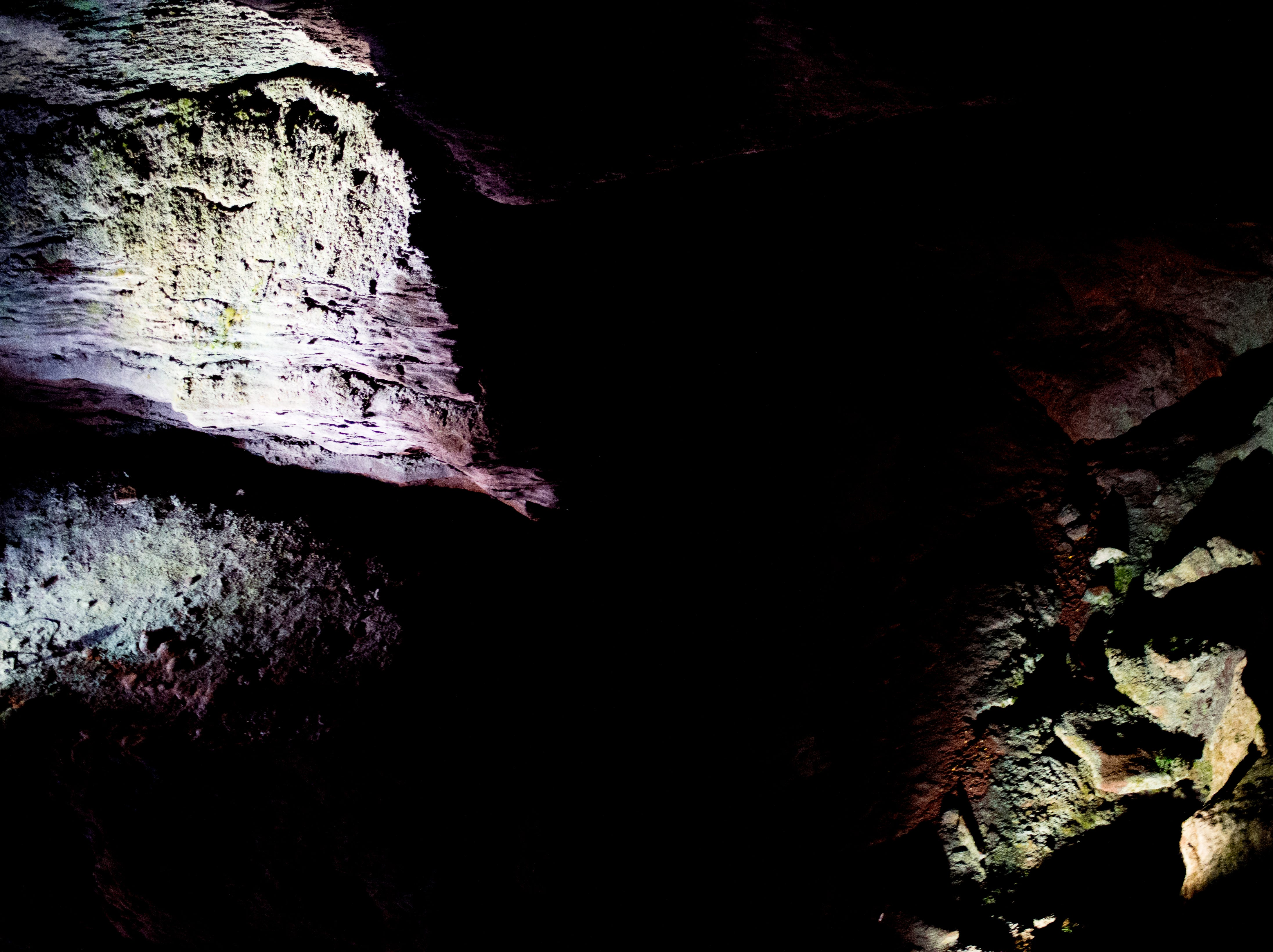 Rock formations at the Lost Sea Adventure underground cave attraction outside of Sweetwater, Tennessee on Wednesday, August 15, 2018. The cave system dates back some 20,000 years and today features points of interests like an old moonshine still, rock formations, Confederate Army graffiti and the popular boat ride in a natural lake stocked with 200 rainbow trout.
