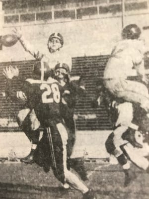 Lafayette Jeff and West Lafayette played to a 7-7 tie in 1952 at Ross-Ade Stadium.