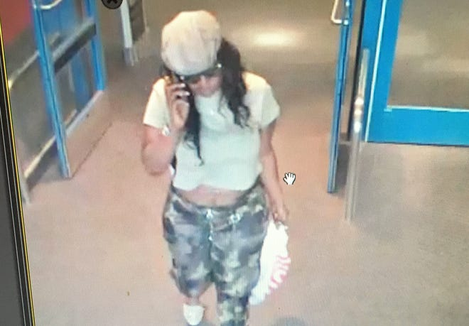 This is one of two suspects believe to have stolen wallets from purses from grocery carts or at area restaurants, according to Lafayette police.