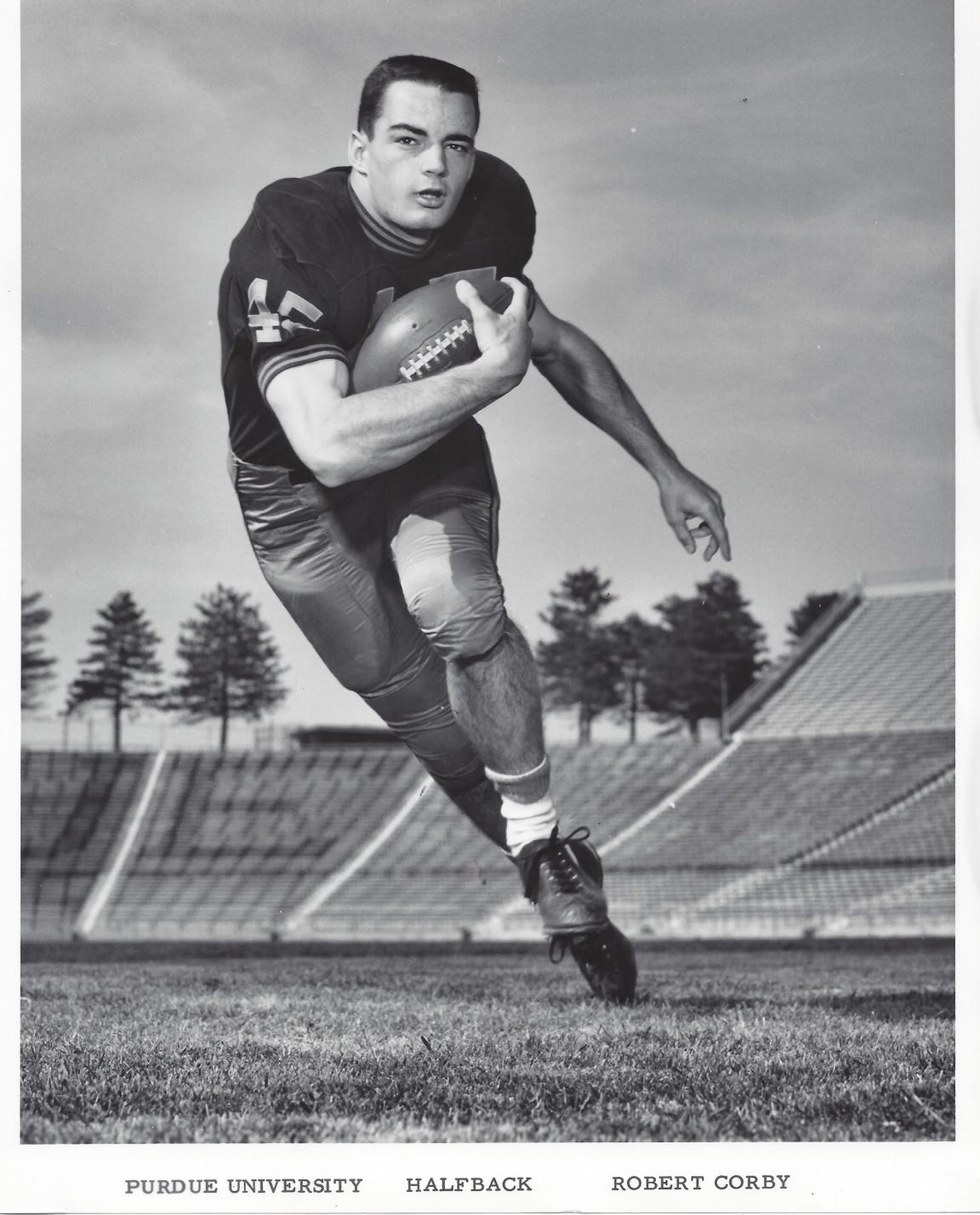 Bob Corby was a standout end for the Purdue football team in the mid 1960s.