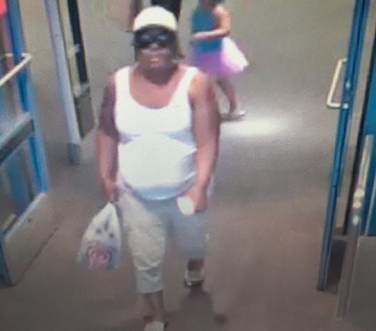 This is one of the two women police suspect stole wallets from women's purses Friday.