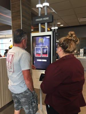 McDonald's self ordering kiosks
