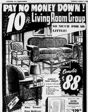 This furniture ad appeared in the Aug. 3, 1950 Lancaster Eagle-Gazette.
