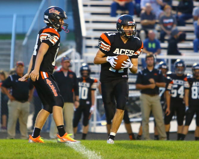 Amanda-Clearcreek senior Andrew Hunter is looking to secure the starting quarterback job for the Aces this season.