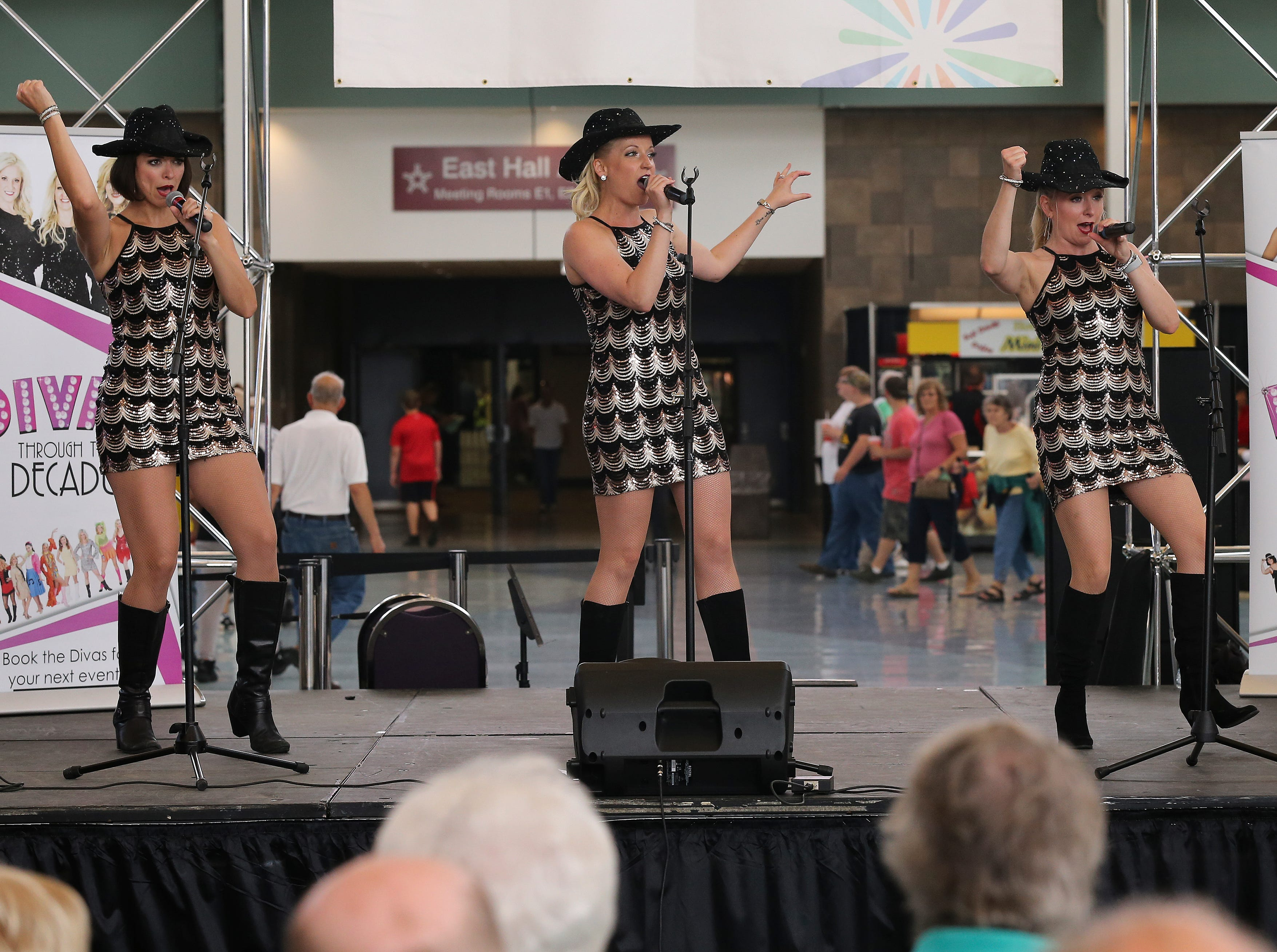 Divas Through the Decades perform during the first day of the Kentucky State Fair.Aug. 16, 2018