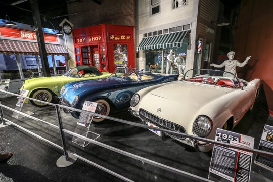 Early Corvettes on display in the National Corvette Museum in Bowling Green.