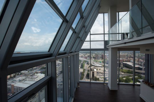 The penthouse at the residences above the Omni Hotel in Louisville, KY.