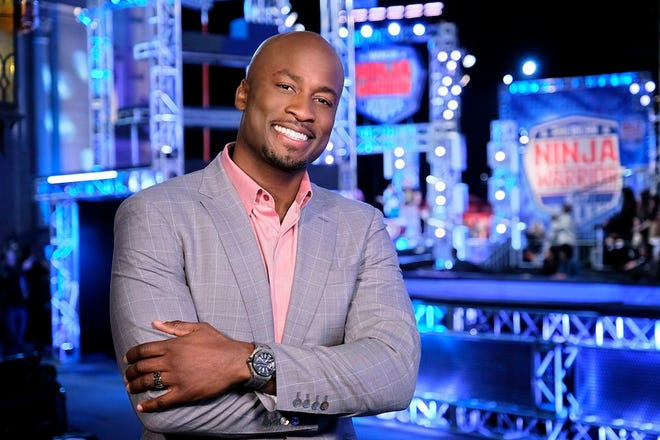 "AMERICAN NINJA WARRIOR -- ""Los Angeles Finals"" -- Pictured: Akbar Gbajabiamila -- (Photo by: Tyler Golden/NBC)"