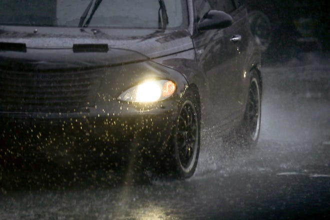 Heavy rain greeted commuters in Louisville Thursday morning,