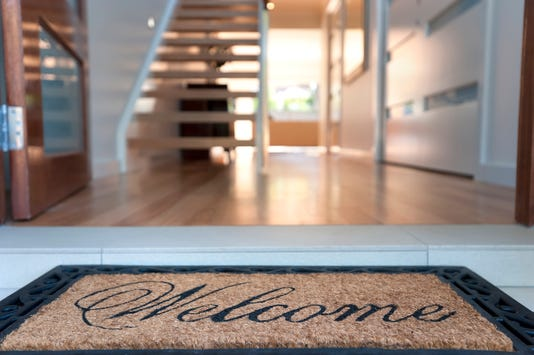 Close Up Of A Welcome Mat In An Inviting House