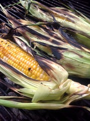 Sweet corn is grilled in the husks after a good soaking.