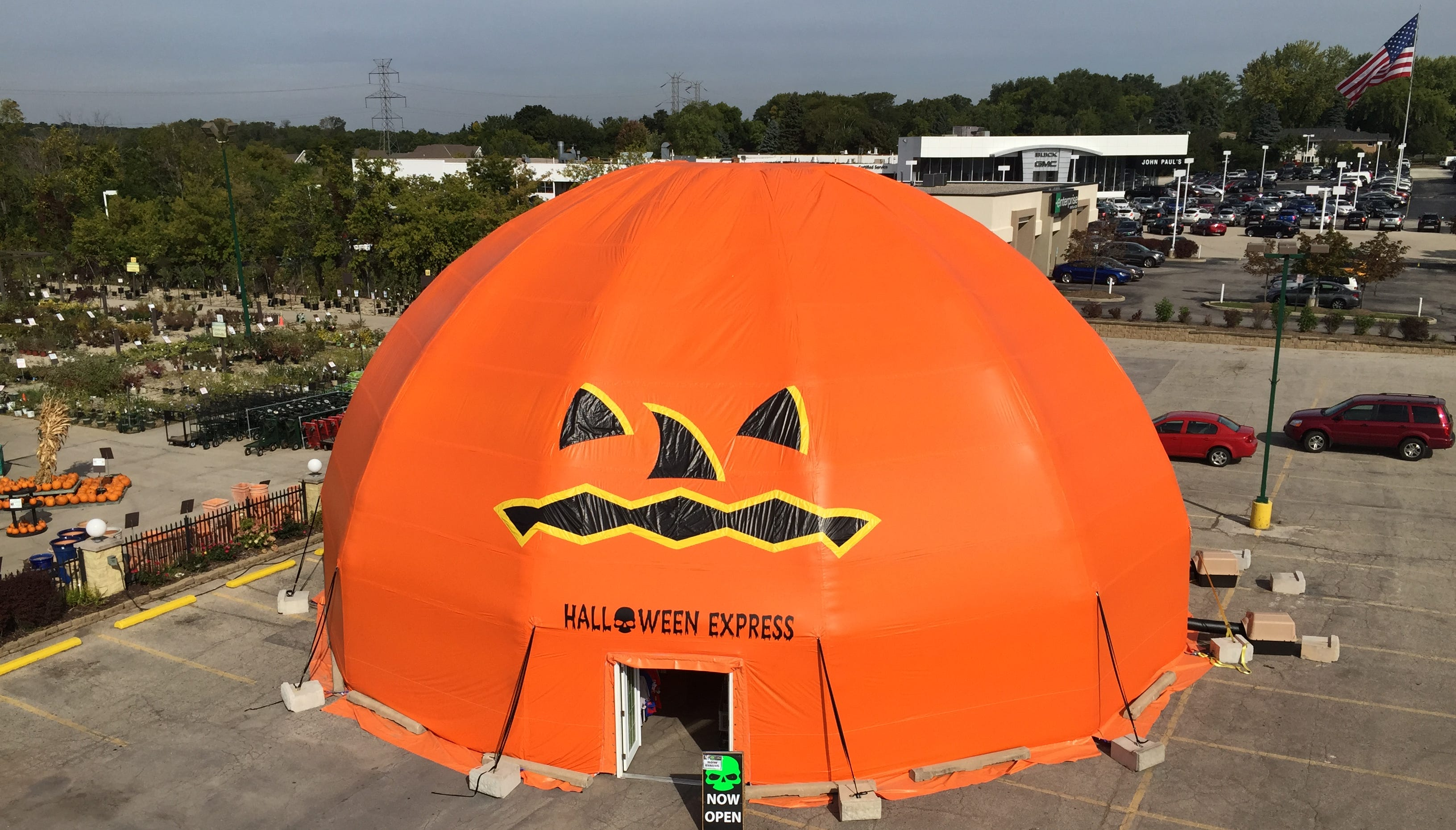 inflated pumpkin collapse prompts lawsuithalloween store's insurer