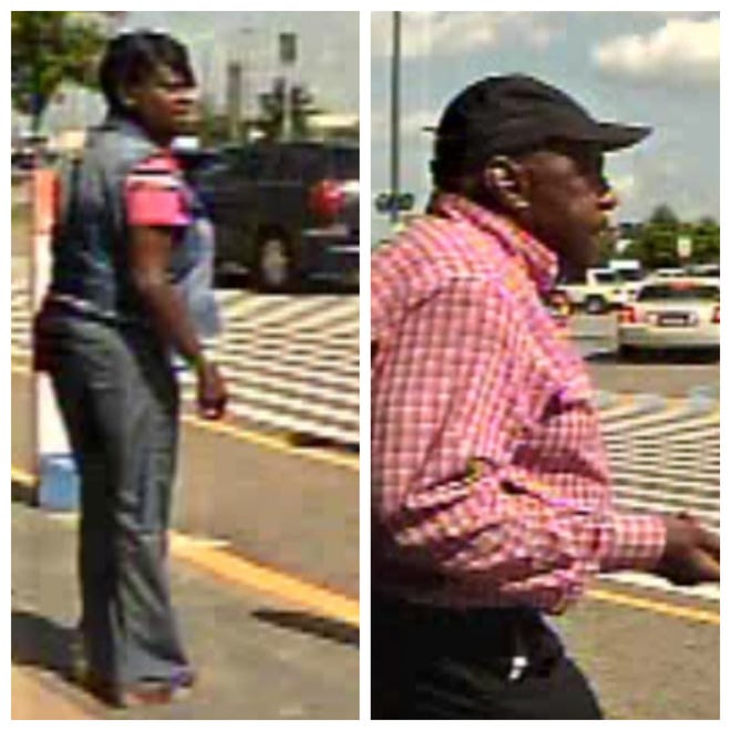 Police are seeking a man and women in connection to a scam in which an elderly woman lost money