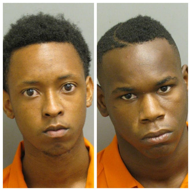 Tawaine McCullough and Keondre Haynes were both charged with first-degree robbery and theft.