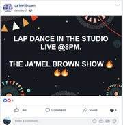 A post from Ja'Mel Brown's Facebook in January.