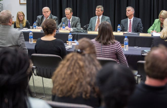 Ball State's Board of Trustees met in person and on conference call Thursday afternoon voting to remove the name of John H. Schnatter from the university's Institute for Entrepreneurship and Free Enterprise, reversing action taken Aug. 3.
