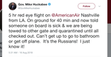 """Former Arkansas governor and two-time Republican presidential candidate Mike Huckabee said he was stuck on a """"quarantined"""" plane Thursday morning at Nashville International Airport."""