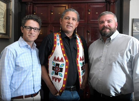 Keith Hays, left, Charles Robinson and Grant Kennedy founded Franklin-based Atsiniki Cigars.