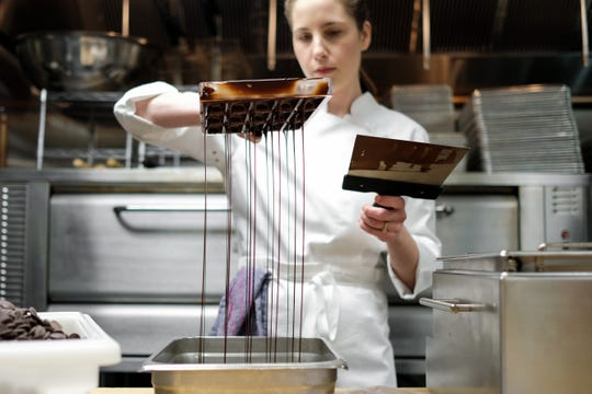 While Kayla May makes high-end desserts for the menu at Josephine, the staff favorite is her chocolate chip cookies.