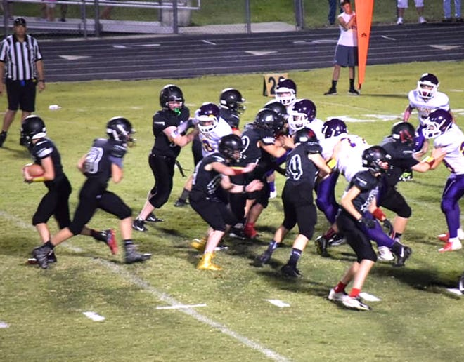 Fairview Middle School Falcons' win over William James August 11, 2018.