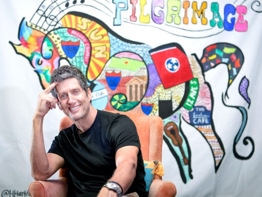 Pilgrimage Festival co-founder, Better Than Ezra frontman and Franklin, Tenn. resident Kevin Griffin in Pilgrimage Festival office at the Factory in Franklin on Thursday, August 16, 2018.