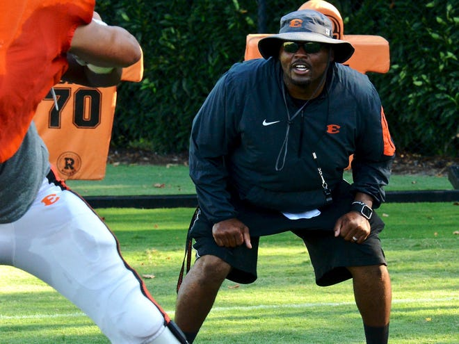 Jeremy Garrett opens the season as Ensworth's football coach Friday against Lipscomb Academy.