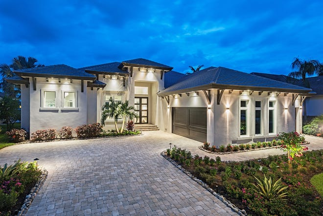Frank R. Jenkins Custom Homes has completed this spec home in Gulf Harbour Yacht and Country Club in Fort Myers.