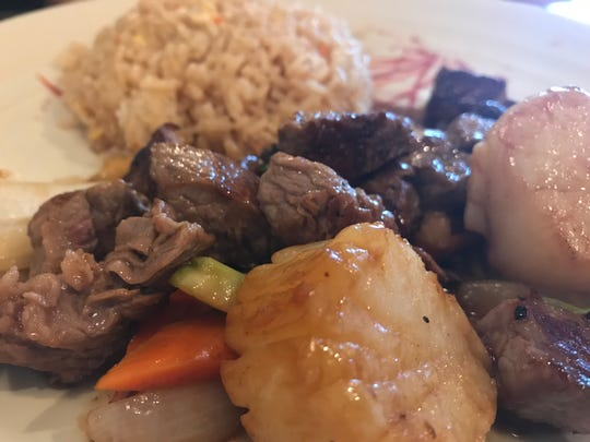 Find plenty of hibachi options like this steak and scallops entree with fried rice at Tokyo Sushi & Hibachi off Vanderbilt Beach Road and Collier Boulevard.