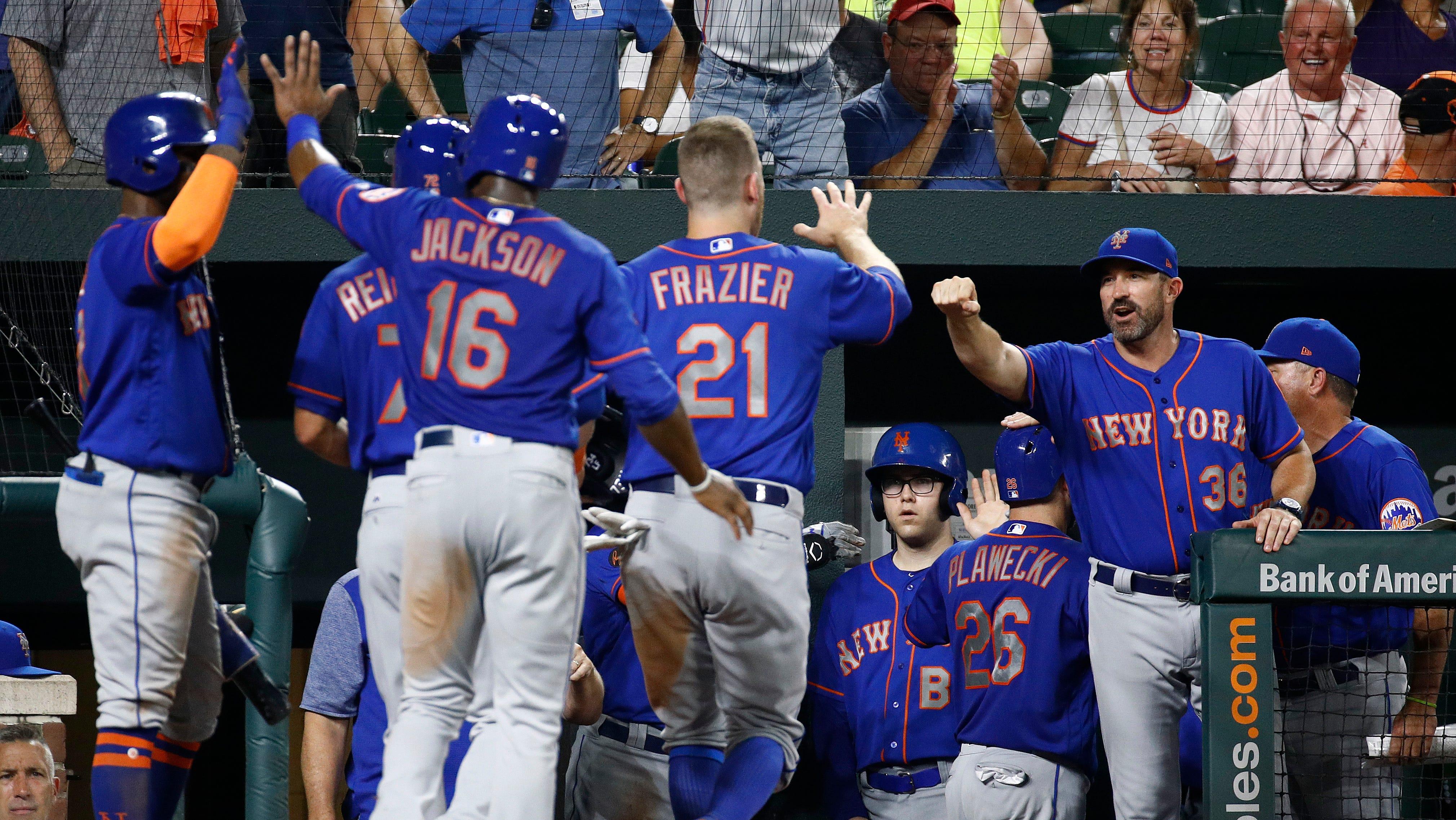 The Mets scored a season-high 16 runs against the Orioles.