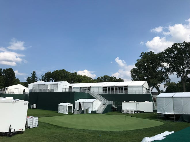 Tents for corporate sponsors, where food and drink will be served during the tournament.