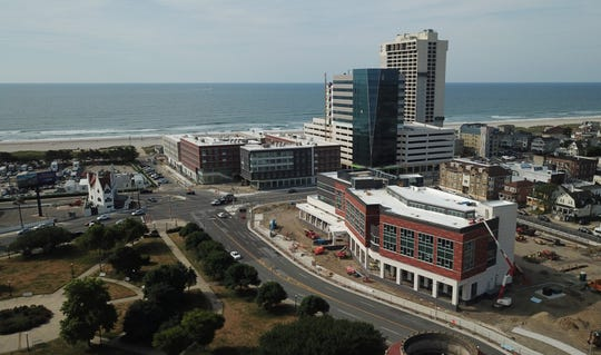 Stockton University's new campus along the boardwalk in Atlantic City features beachfront housing.