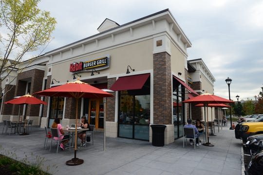 The Habit Burger Grill offers al fresco dining and fast-casual fare, including six varieties of char-grilled hamburgers, at Fair Lawn Promenade.