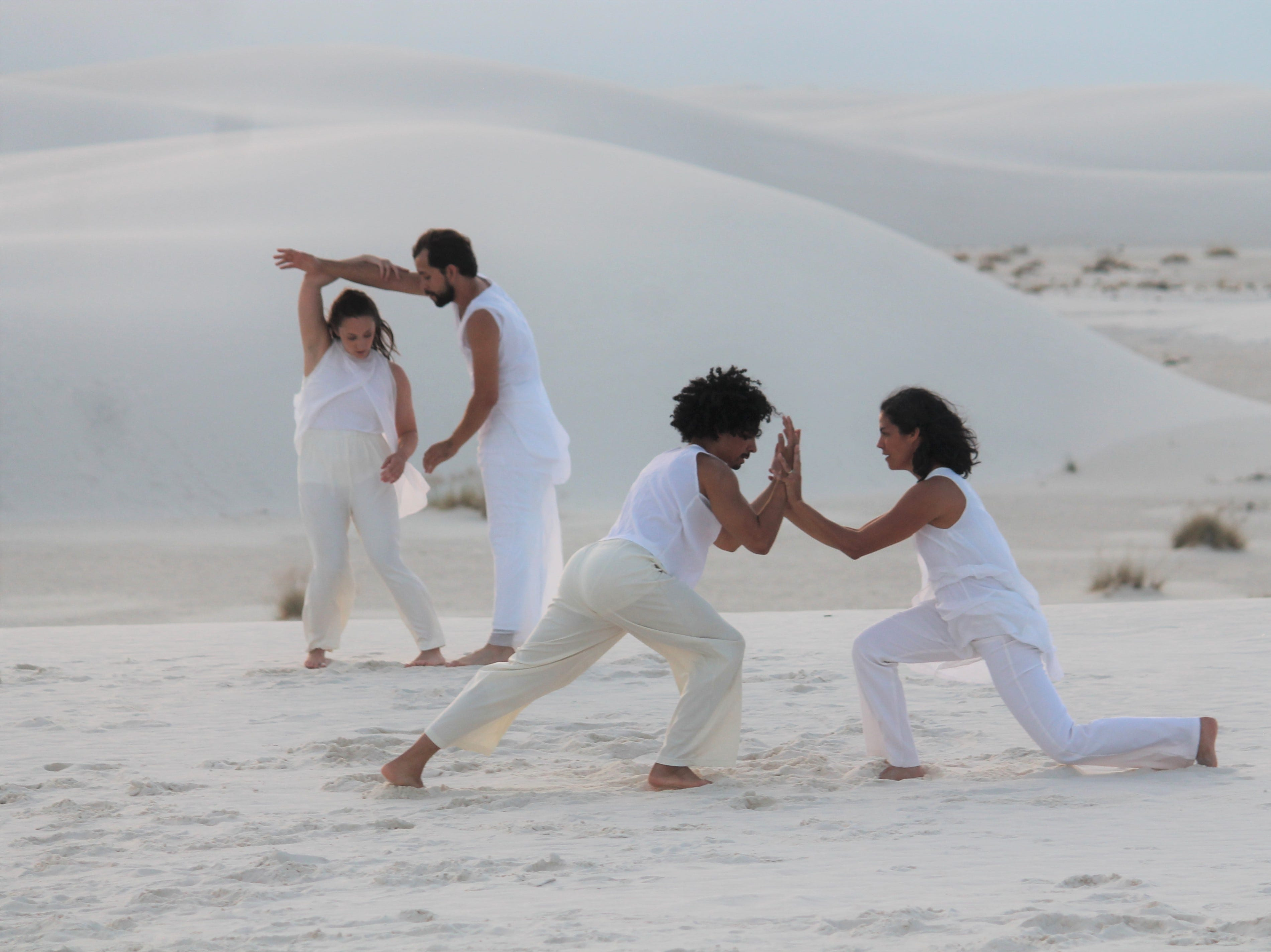 "The dancers were filming a video at White Sands this week for the ""Song of Light"" from Tandon's recent album ""Shivoham - the Quest."""