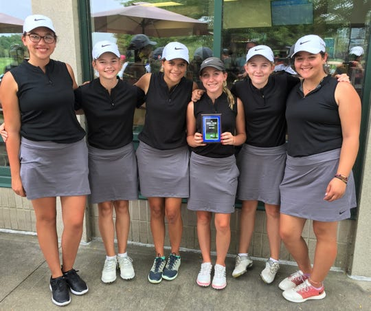 The Plymouth girls golf team took runner-up honors in the Orangetheory Invitational held at Hudson Mills in Dexter.