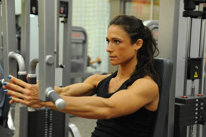 Megan Schulz is determined to get through another tough workout as she gears up for her next bodybuilding competition.