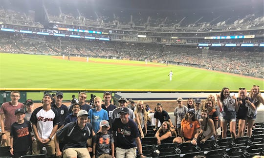 The Franklin High girls and boys cross country teams were in attendance Aug. 14 at Comerica Park.