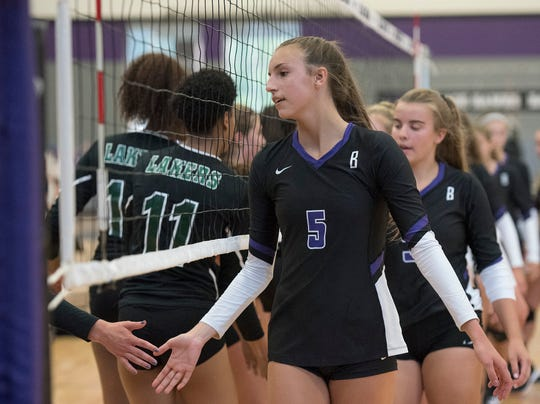 Bloomfield Hills junior captain Alexa Rousseau is a 6-foot-3 setter who already has committed to play volleyball at Northwestern.