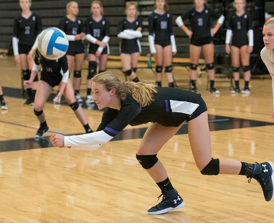 Outside hitter Ava Petrucci is a talented freshman who is on track to start for the Bloomfield Hills varsity.