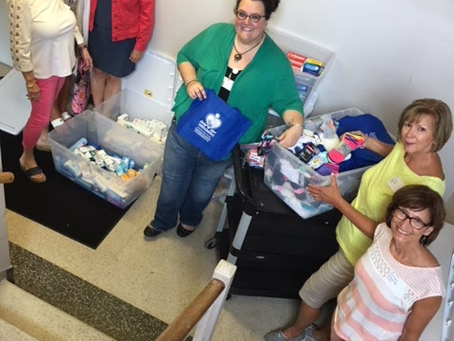 Members of Giving Hope delivered hygiene products last month to  young women at Vista Maria in Dearborn Heights. Members collected the products and made a cash donation as part of a summer service project.