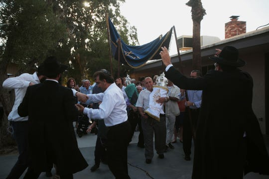Chabad of Rancho Mirage dedicated a new torah Wednesday