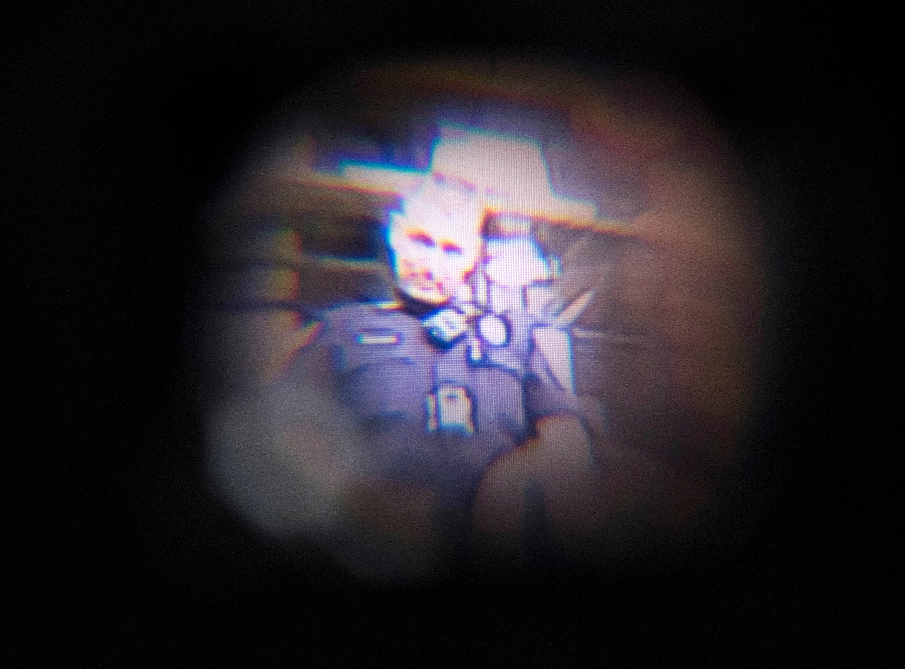 A camera view of an image transmitted to a drone operator's headset during a demonstration of the technology by the Institute For Human and Machine Cognition for the Pensacola Police Department on Thursday, Aug. 16, 2018.