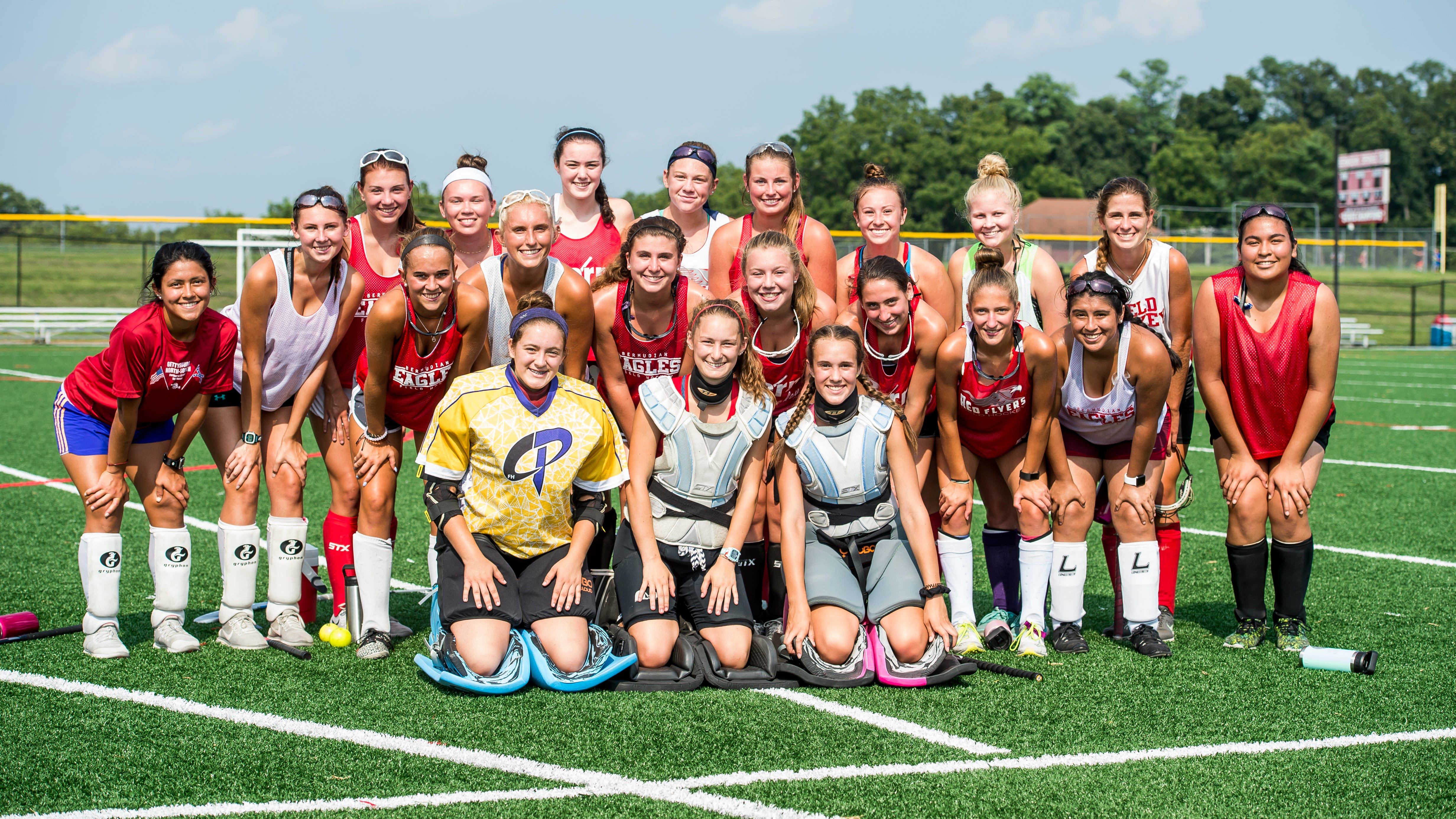 The Bermudian Springs varsity field hockey team pose for a photo during practice on Thursday, August 16, 2018.