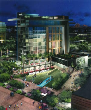 The proposed Museum Square Hotel on Goldwater Blvd. and 2nd St. in Scottsdale. Eight new hotels are being proposed for development south of Camelback Road in Scottsdale, with at least six located in Old Town and another in north Scottsdale.
