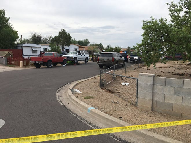 A man was pronounced dead at the hospital after he was shot near Mesa on Aug. 14, 2018.