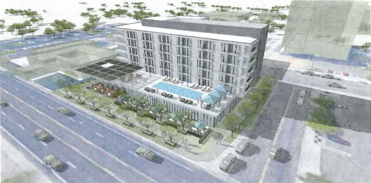 The proposed Don and Charlie's Hotel on Camelback and 75th St. in Scottsdale. Eight new hotels are being proposed for development south of Camelback Road in Scottsdale, with at least six located in Old Town and another in north Scottsdale.