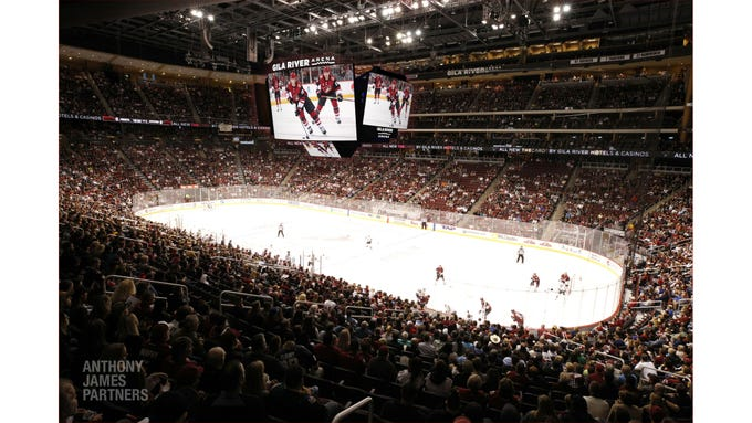 Renderings of the new video board coming to Gila River Arena..