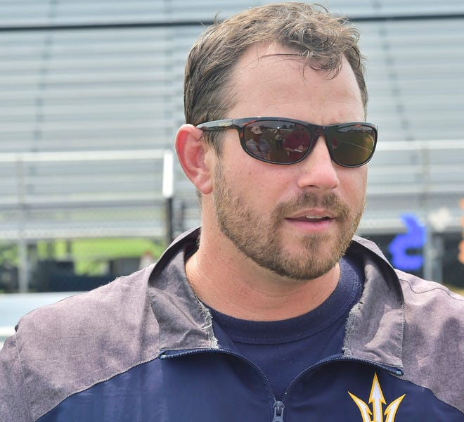 Devin McCauley, photographed Thursday, August 16, 2018, takes over the head coaching duties at Greencastle-Antrim High School.